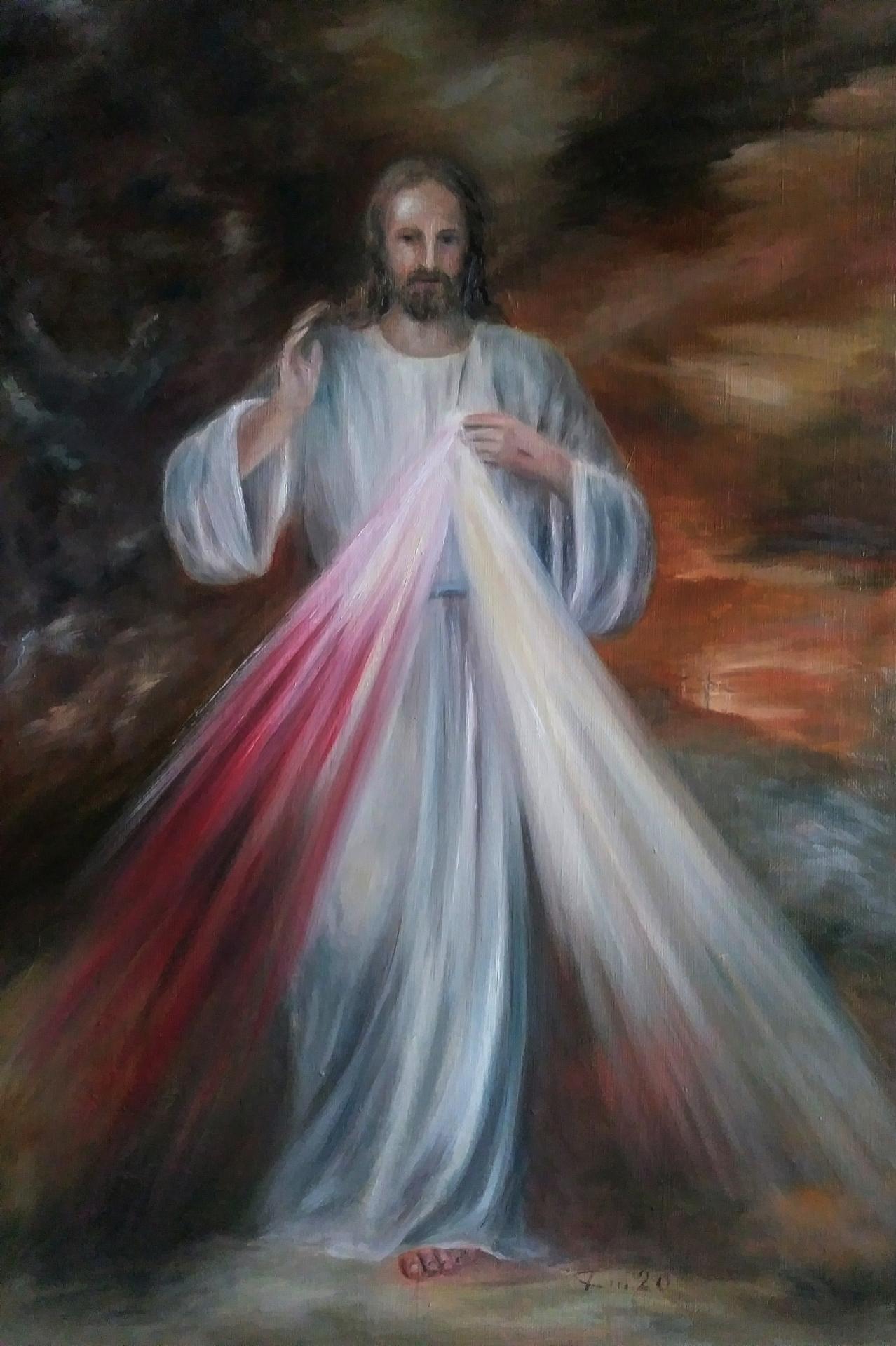 Divine miséricorde, tableau de Jésus miséricordieux