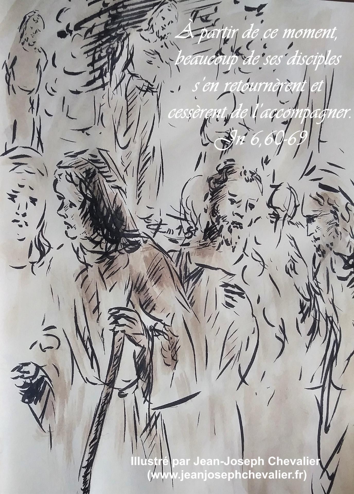 21 avril 2018 evangile du jour illustre par un dessin au lavis de jean joseph chevalier image