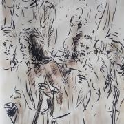 21 avril 2018 evangile du jour illustre par un dessin au lavis de jean joseph chevalier