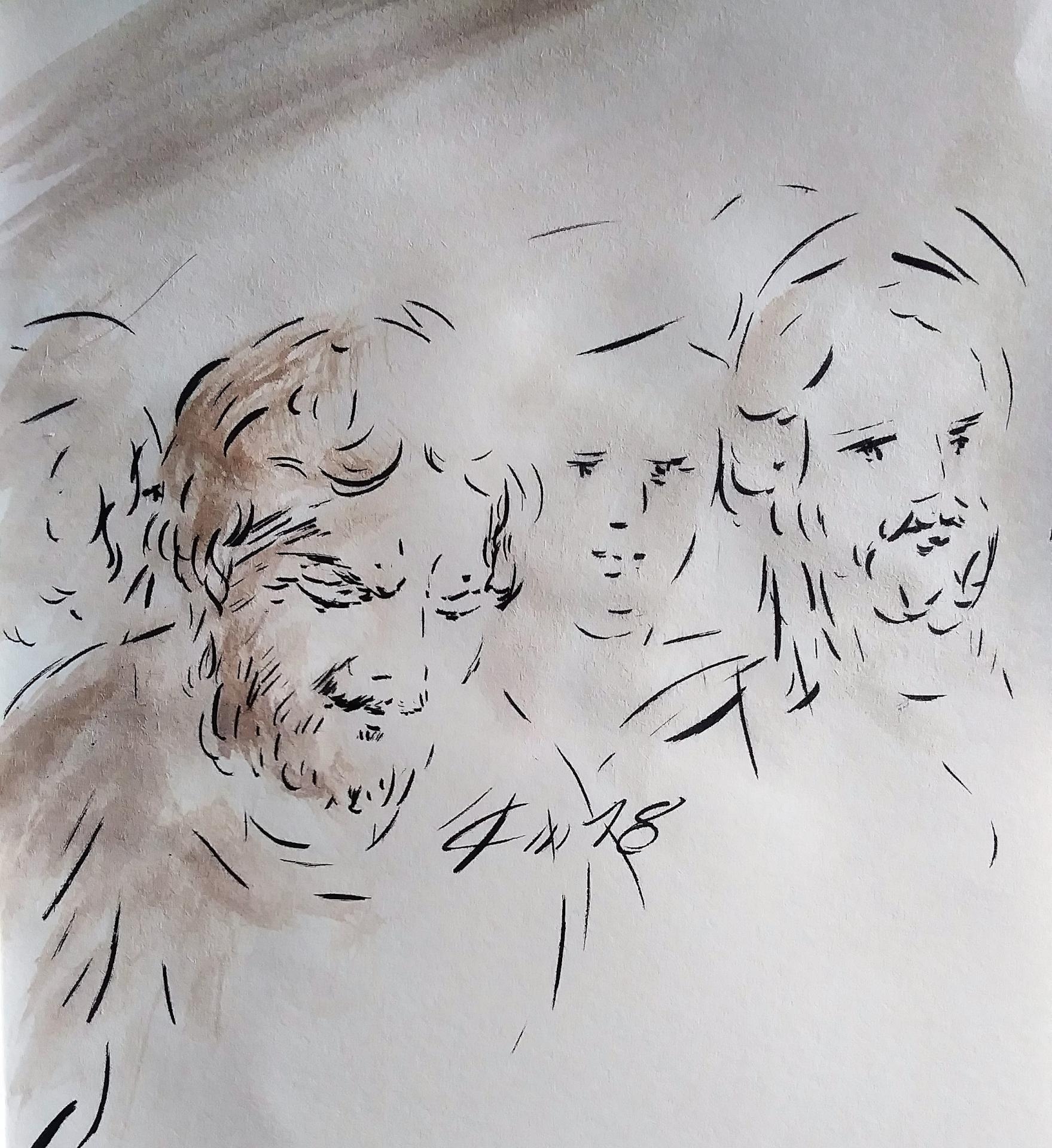 21 Mai 2018, évangile du jour illustré par un dessin au lavis