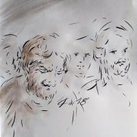 21 mai 2018 evangile du jour illustre par un dessin au lavis de jean joseph chevalier