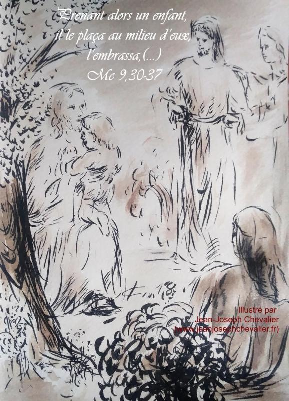 22 mai 2018 evangile du jour illustre par un dessin au lavis de jean joseph chevalier image