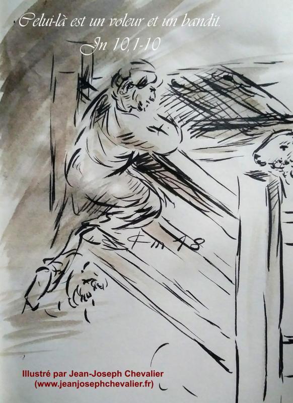 23 avril 2018 evangile du jour illustre par un dessin au lavis de jean joseph chevalier image
