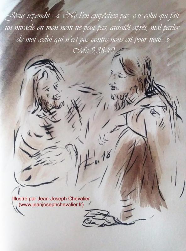 23 mai 2018 evangile du jour illustre par un dessin au lavis de jean joseph chevalier image