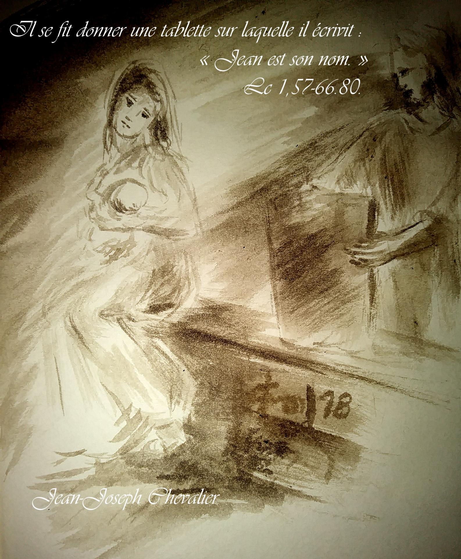 24 Juin 2018, évangile du jour illustré par un dessin au lavis