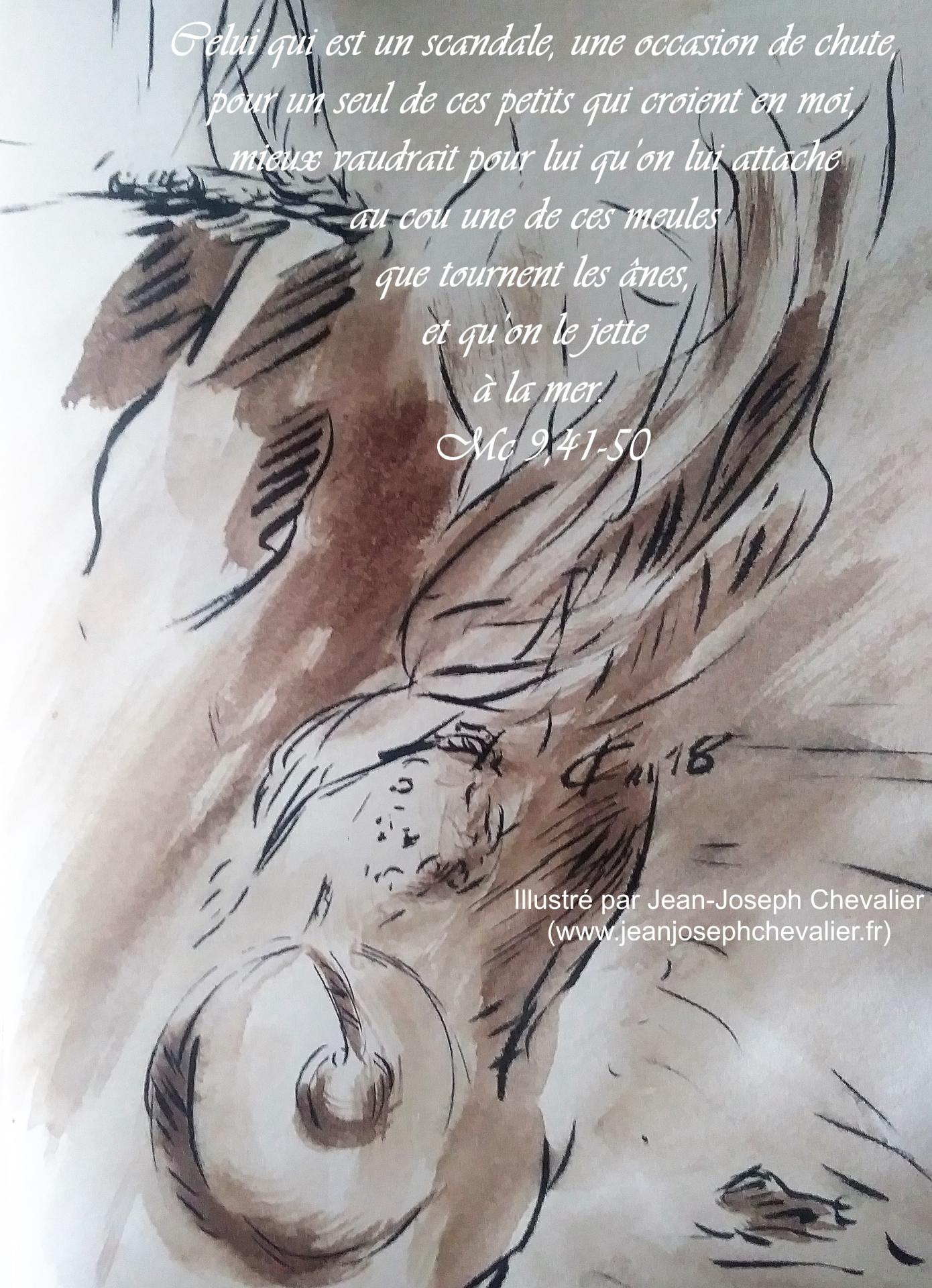 24 mai 2018 evangile du jour illustre par un dessin au lavis de jean joseph chevalier image