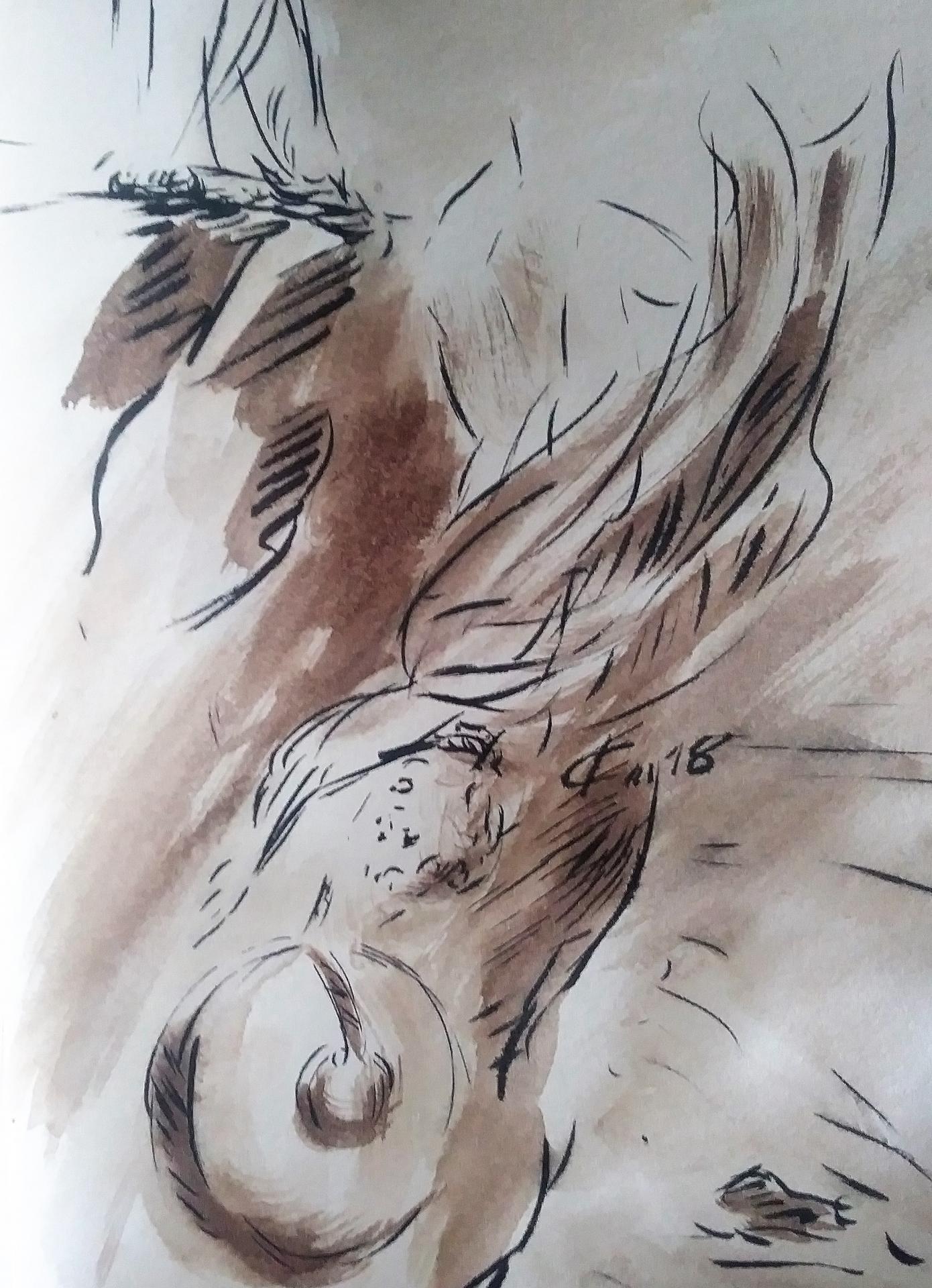 24 mai 2018 evangile du jour illustre par un dessin au lavis de jean joseph chevalier