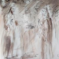 24 mars 2018 evangile du jour illustre par un dessin au lavis de jean joseph chevalier 1