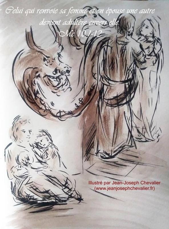 25 mai 2018 evangile du jour illustre par un dessin au lavis de jean joseph chevalier image
