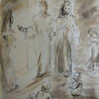 26 janvier 2018 image evangile du jour illustre par un dessin au lavis de jean joseph chevalier