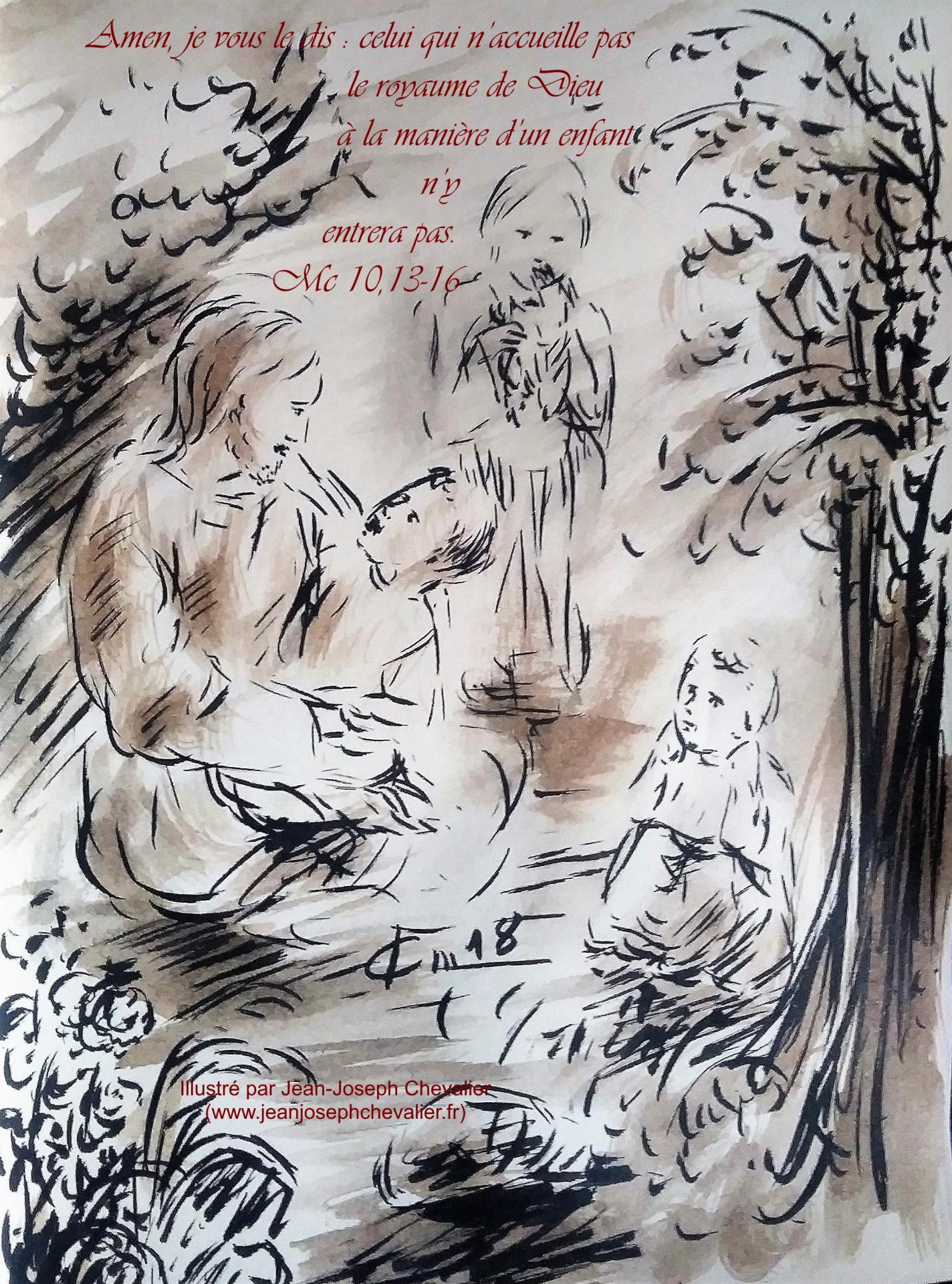 26 mai 2018 evangile du jour illustre par un dessin au lavis de jean joseph chevalier image