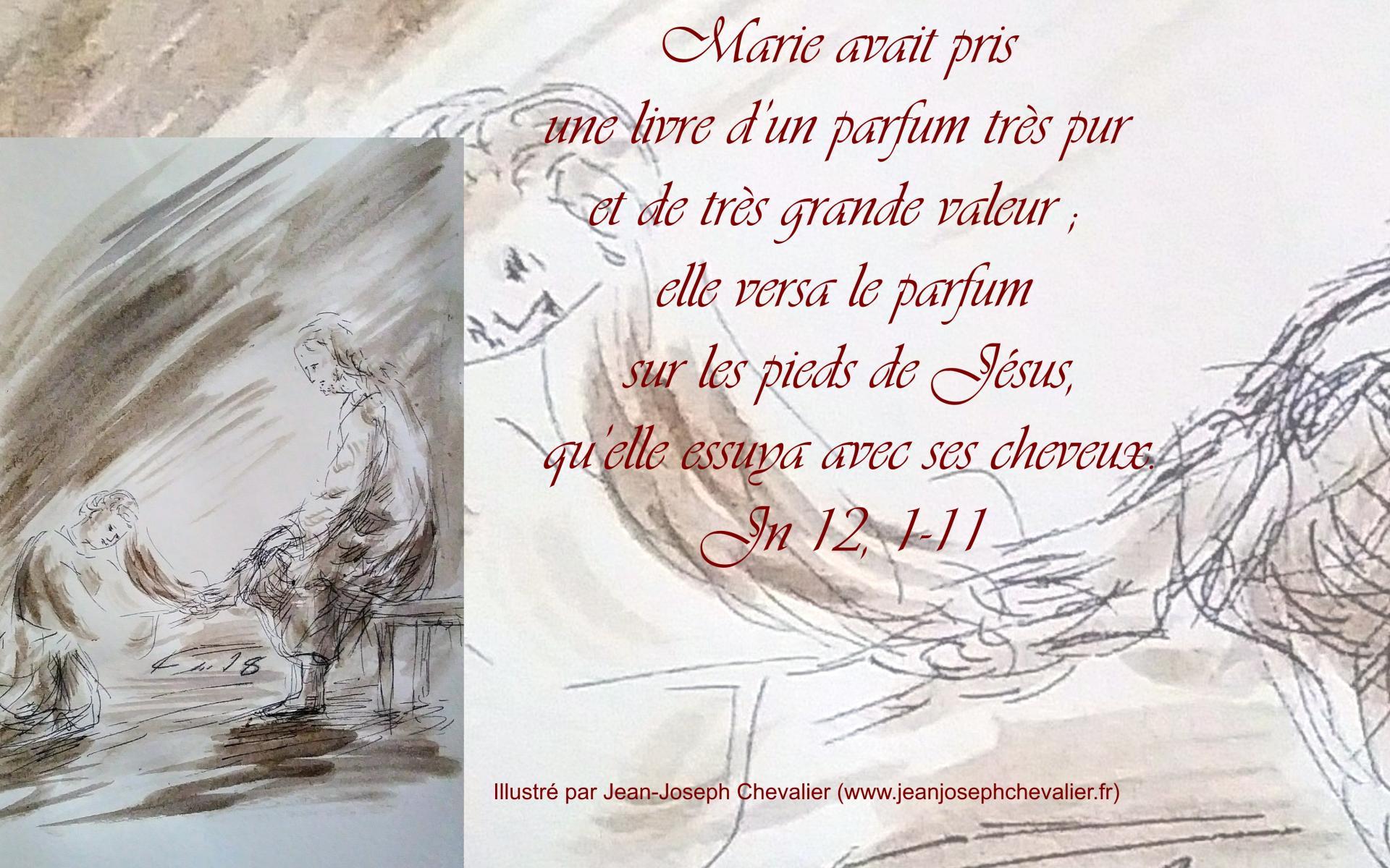 26 mars 2018 evangile du jour illustre par un dessin au lavis de jean joseph chevalier image 1