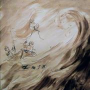 27 janvier 2018 image evangile du jour illustre par un dessin au lavis de jean joseph chevalier