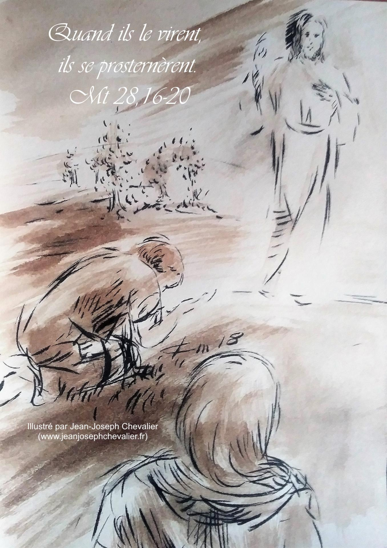 27 mai 2018 evangile du jour illustre par un dessin au lavis de jean joseph chevalier image