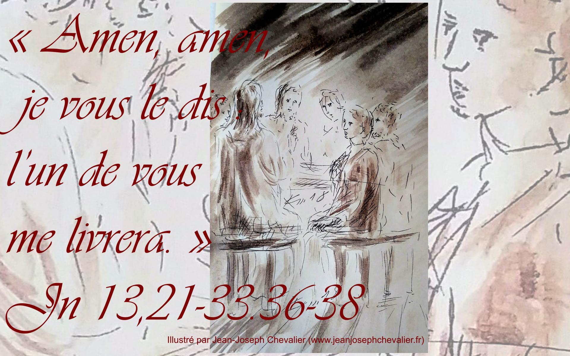 27 mars 2018 evangile du jour illustre par un dessin au lavis de jean joseph chevalier image