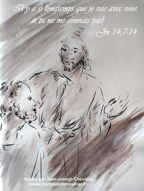 28 avril 2018 evangile du jour illustre par un dessin au lavis de jean joseph chevalier image