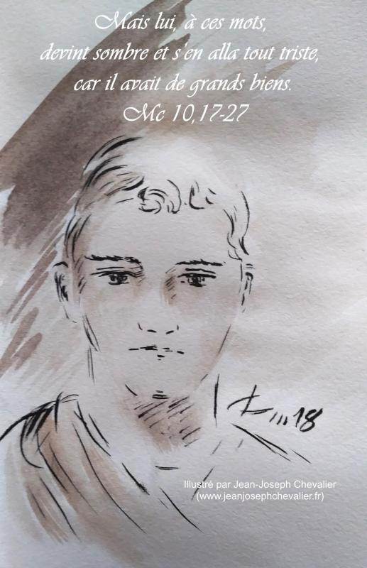 28 mai 2018 evangile du jour illustre par un dessin au lavis de jean joseph chevalier image