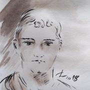 28 mai 2018 evangile du jour illustre par un dessin au lavis de jean joseph chevalier