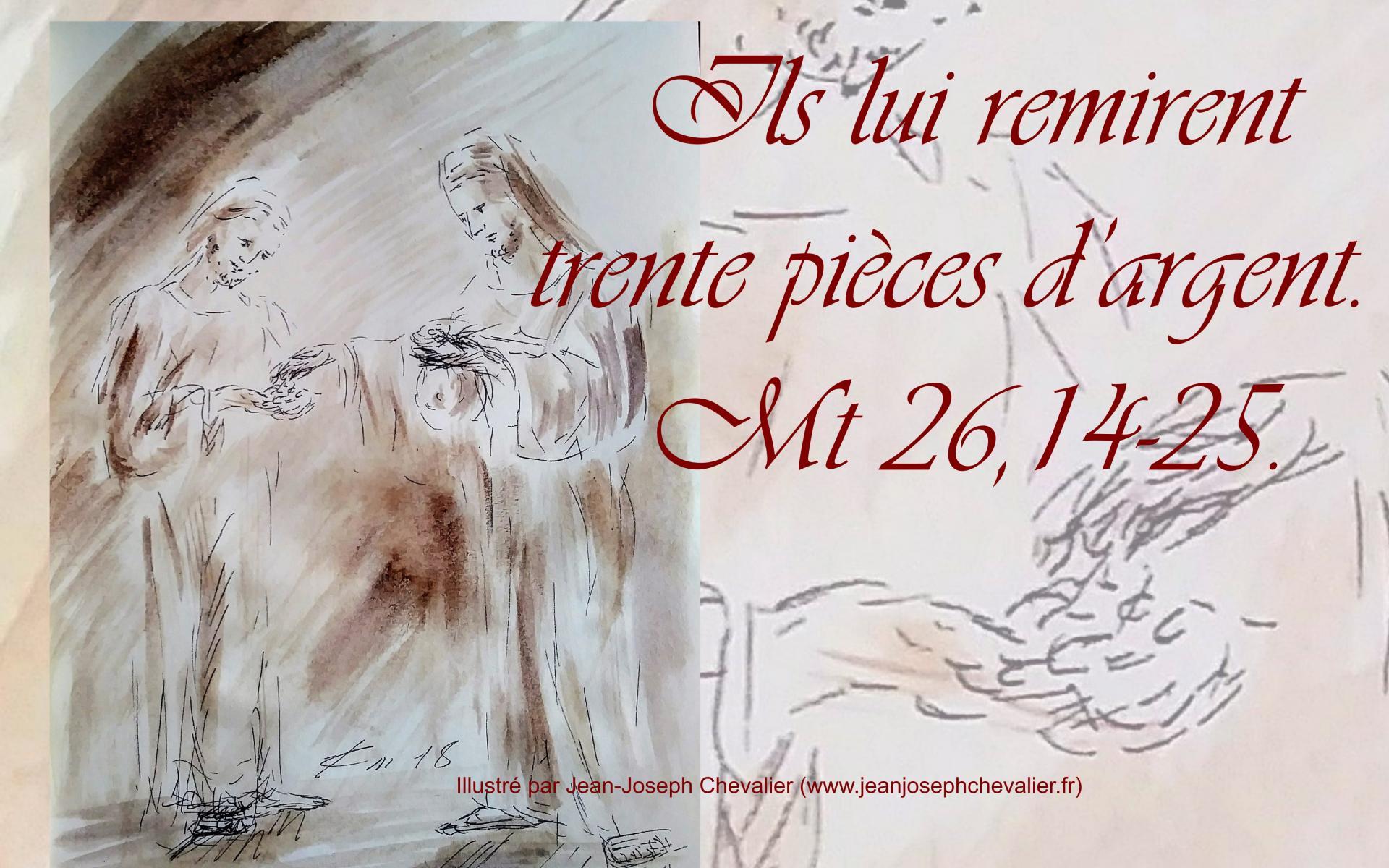 28 mars 2018 evangile du jour illustre par un dessin au lavis de jean joseph chevalier image