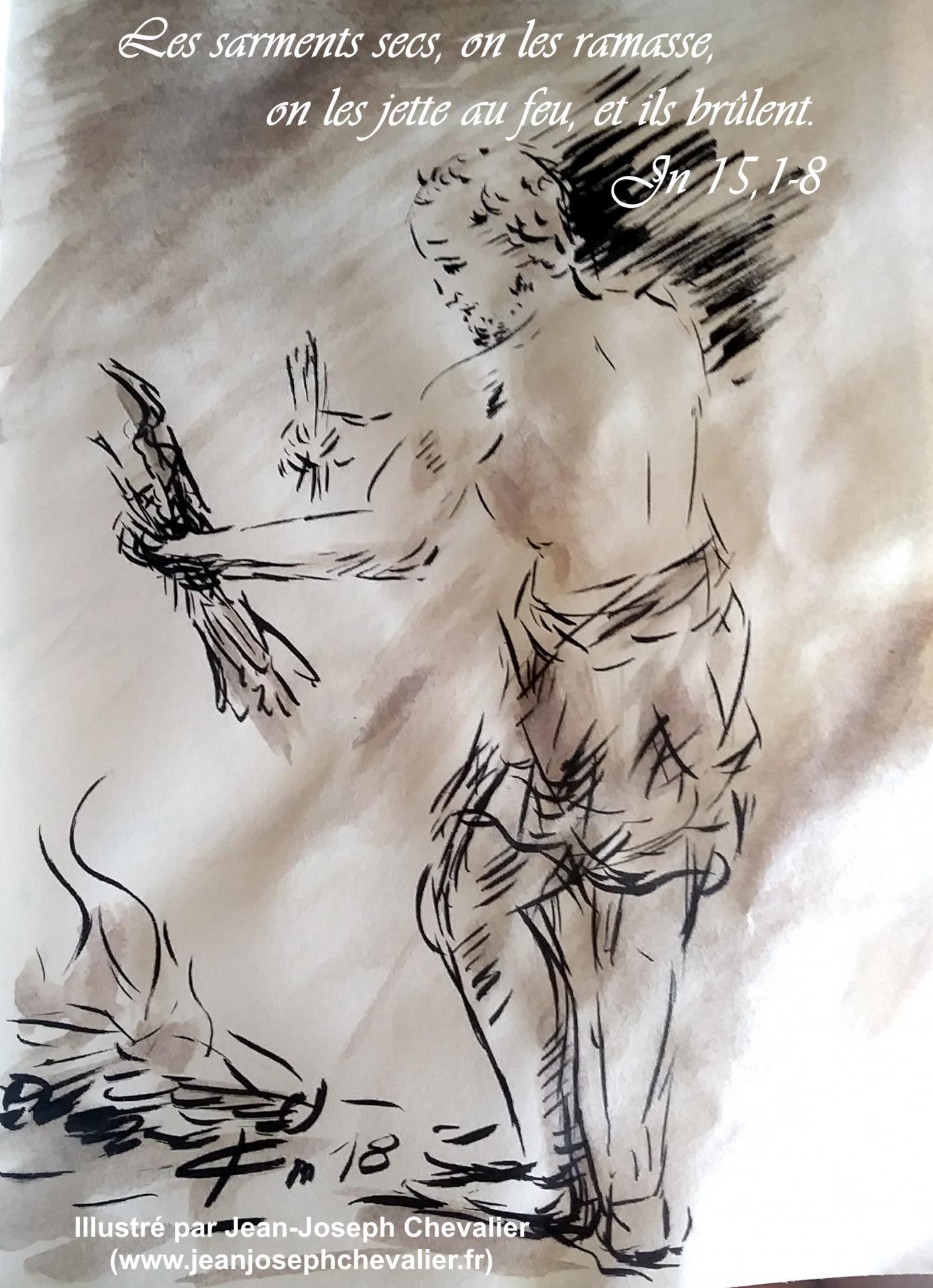 29 avril 2018 evangile du jour illustre par un dessin au lavis de jean joseph chevalier image