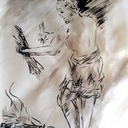 29 avril 2018 evangile du jour illustre par un dessin au lavis de jean joseph chevalier