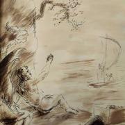 29 janvier 2018 image evangile du jour illustre par un dessin au lavis de jean joseph chevalier