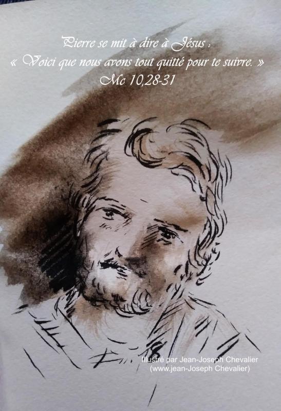 29 mai 2018 evangile du jour illustre par un dessin au lavis de jean joseph chevalier image