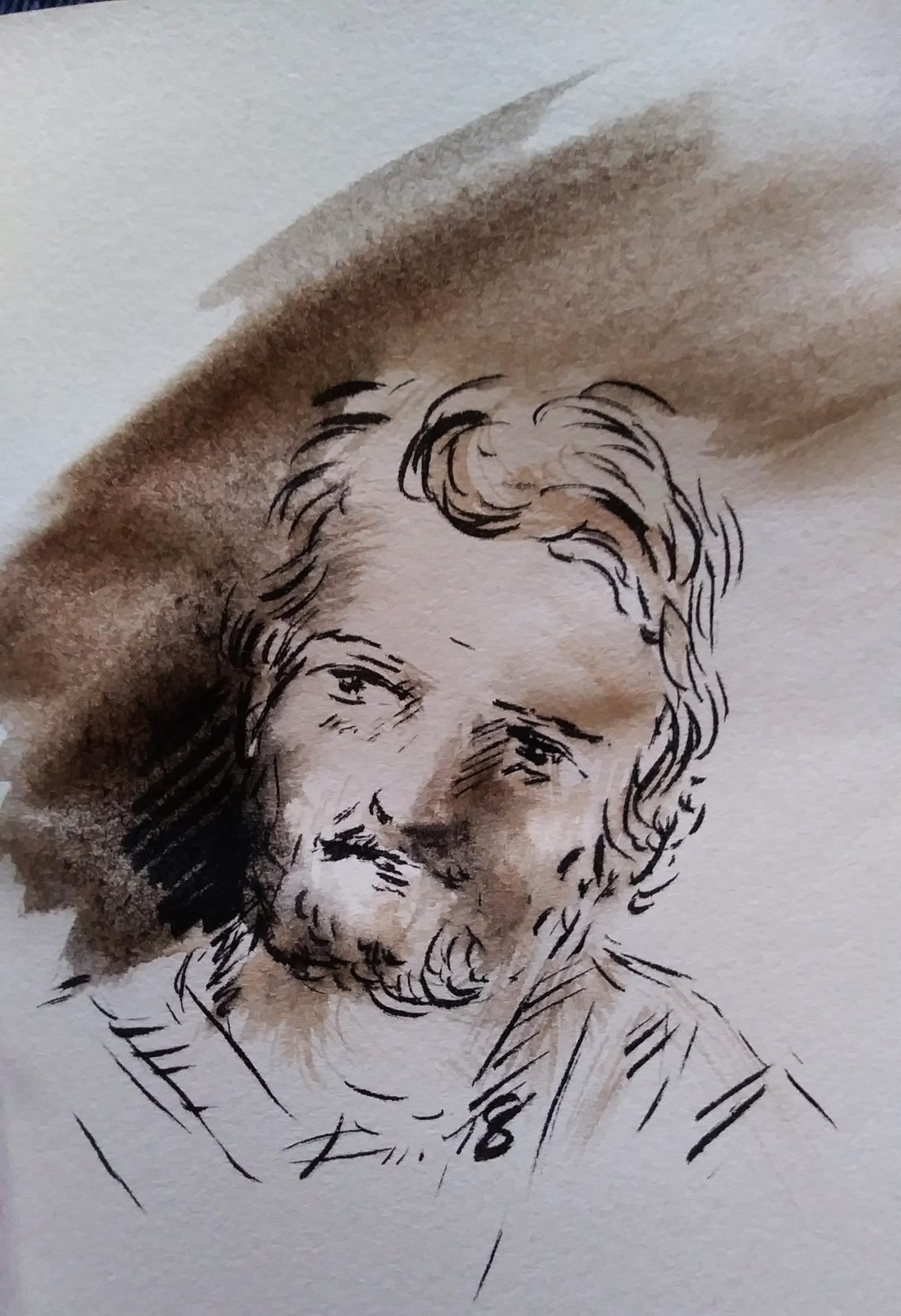 29 mai 2018 evangile du jour illustre par un dessin au lavis de jean joseph chevalier