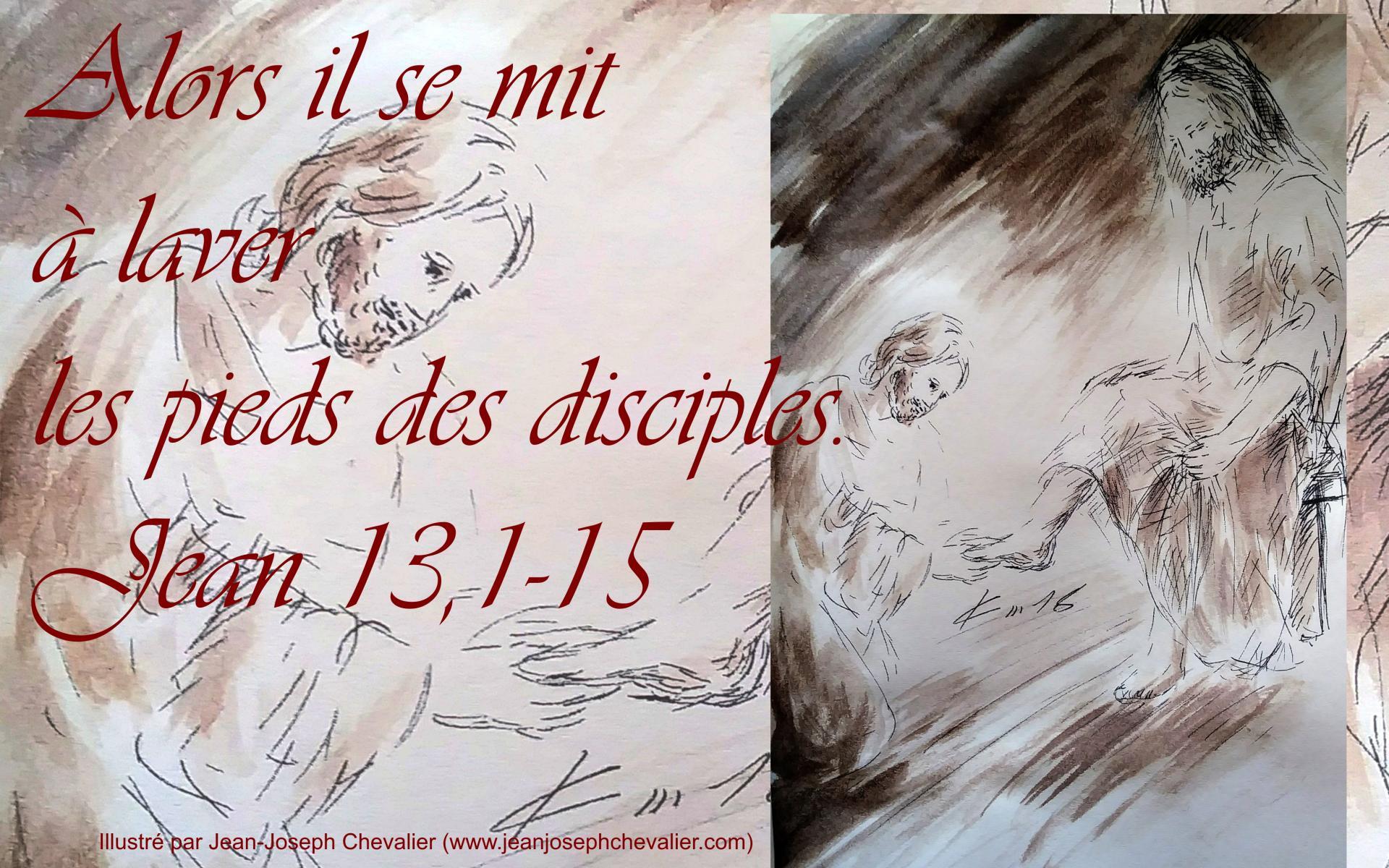 29 mars 2018 evangile du jour illustre par un dessin au lavis de jean joseph chevalier image
