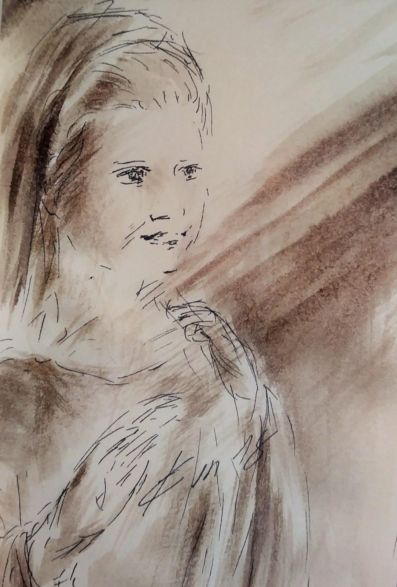 3 Avril 2018, évangile du jour illustré par un dessin au lavis