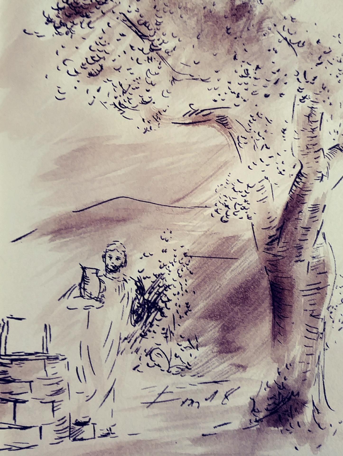 3 juin 2018 evangile du jour illustre par un dessin au lavis de jean joseph chevalier