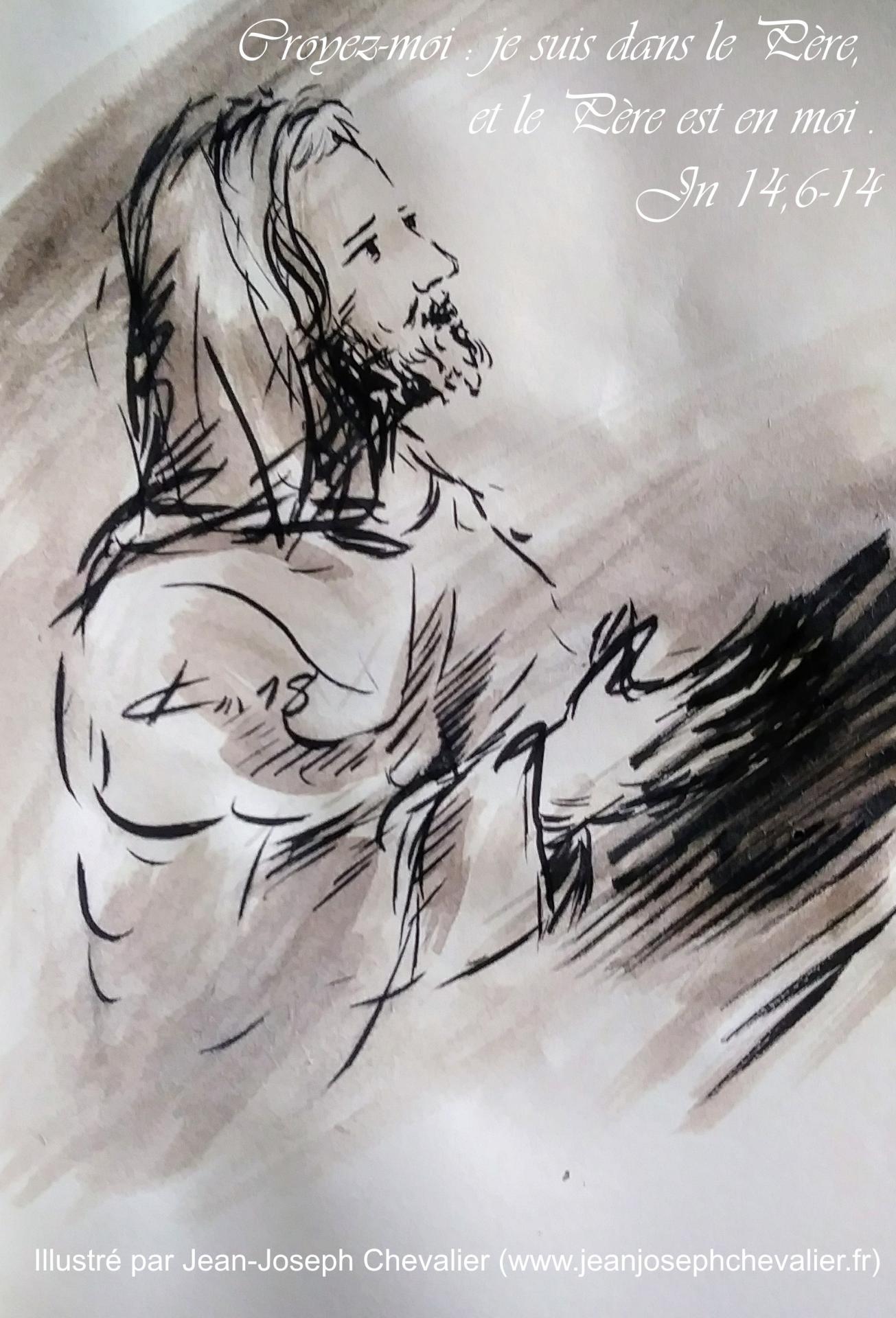 3 mai 2018 evangile du jour illustre par un dessin au lavis de jean joseph chevalier image