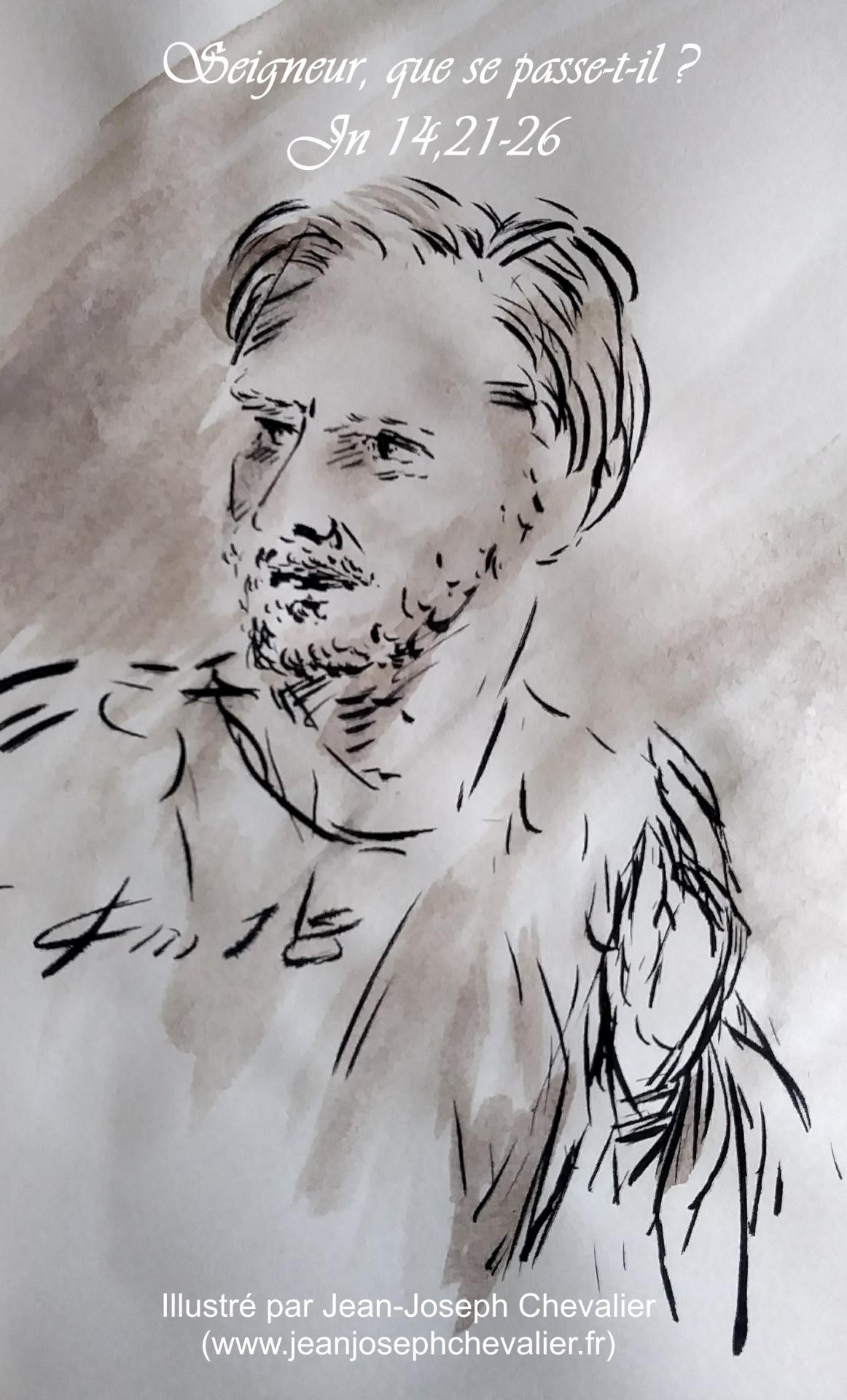 30 avril 2018 evangile du jour illustre par un dessin au lavis de jean joseph chevalier image