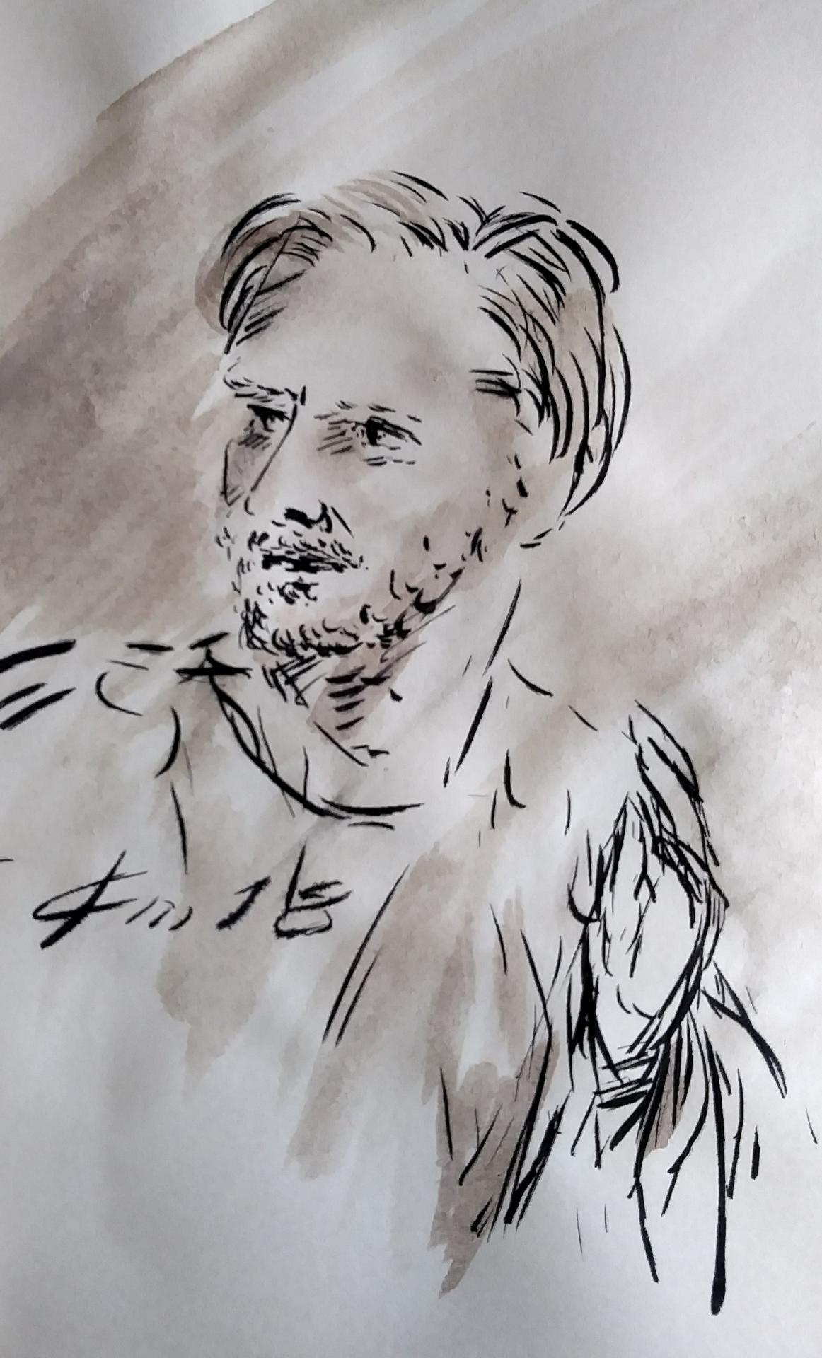 30 avril 2018 evangile du jour illustre par un dessin au lavis de jean joseph chevalier