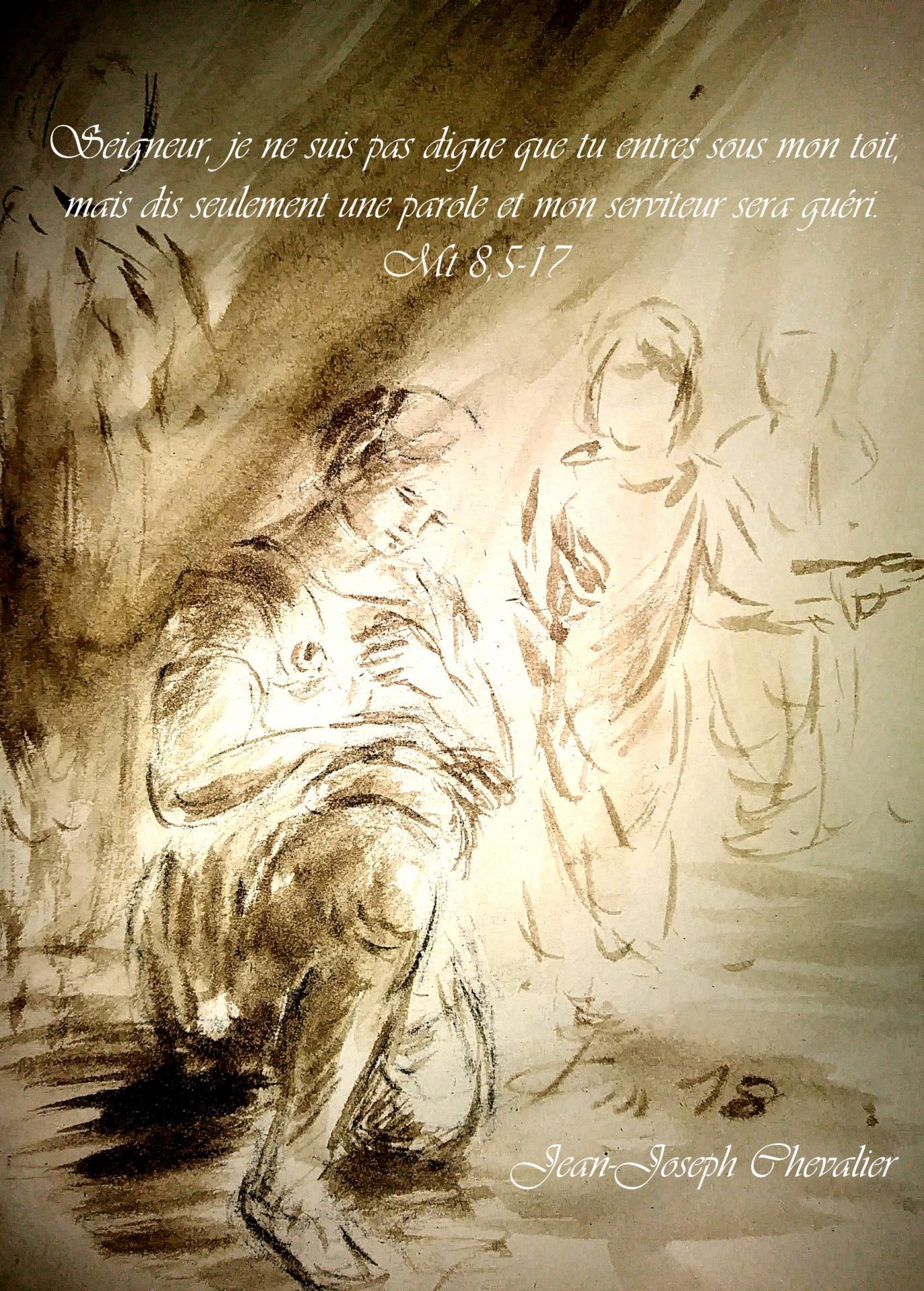 30 Juin 2018, évangile du jour illustré par un dessin au lavis
