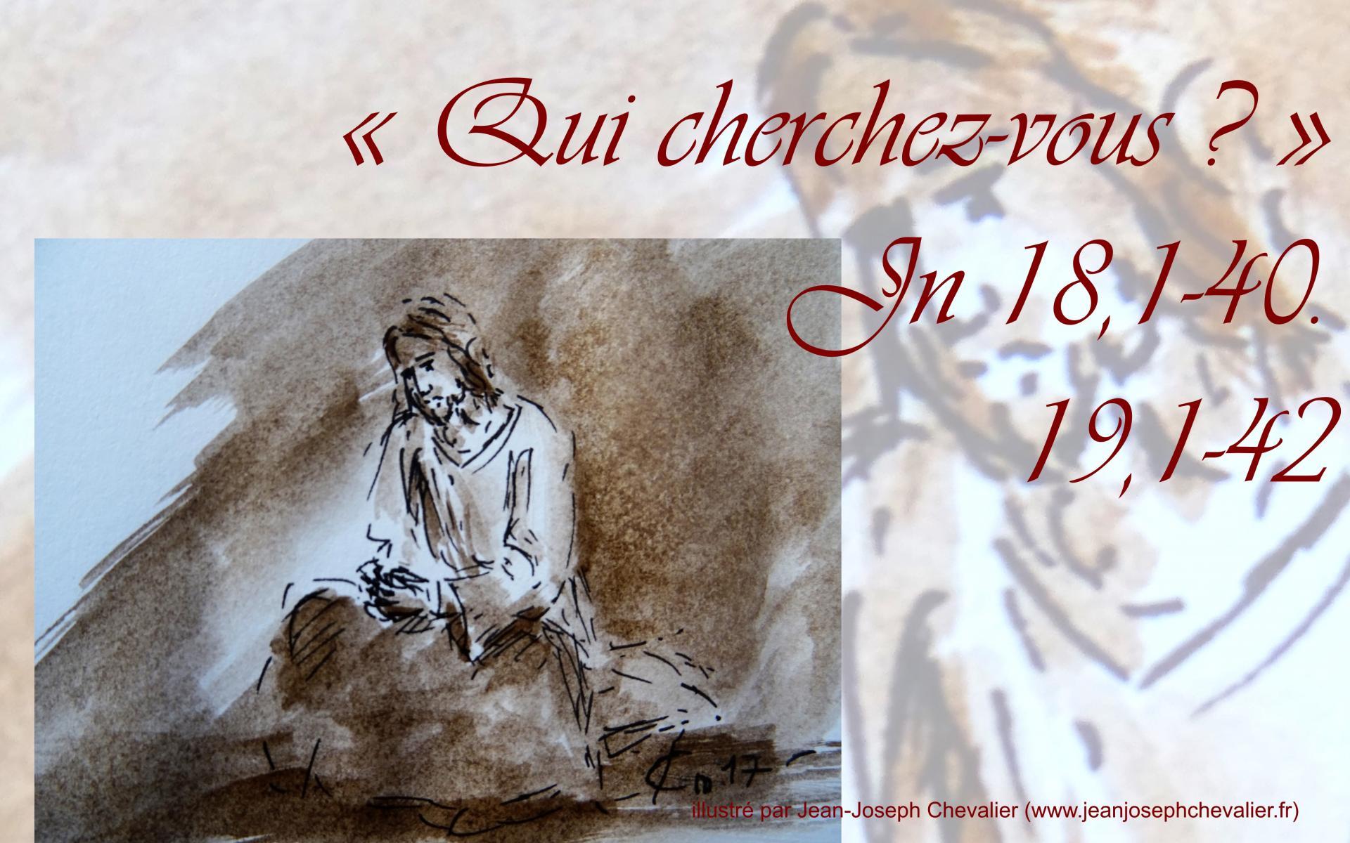 30 mars 2018 evangile du jour illustre par un dessin au lavis de jean joseph chevalier image