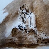 30 mars 2018 evangile du jour illustre par un dessin au lavis de jean joseph chevalier