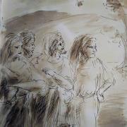 31 janvier 2018 evangile du jour illustre par un dessin au lavis de jean joseph chevalier