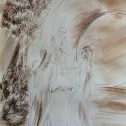 31 mars 2018 evangile du jour illustre par un dessin au lavis de jean joseph chevalier