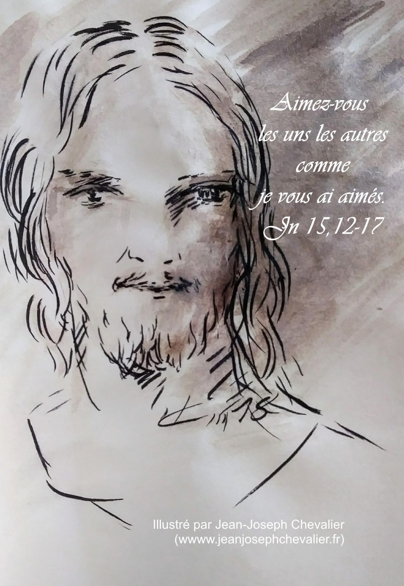 4 mai 2018 evangile du jour illustre par un dessin au lavis de jean joseph chevalier image