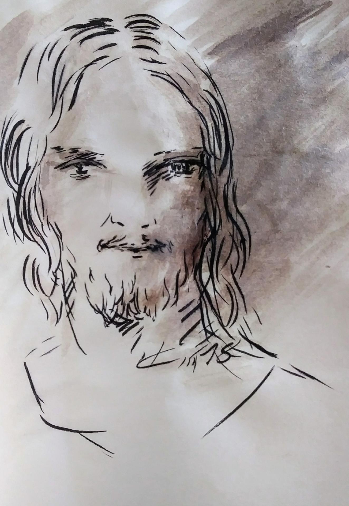 4 Mai 2018, évangile du jour illustré par un dessin au lavis