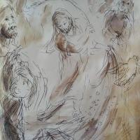 4 mars 2018 jn 2 13 27 evangile illustre par un dessin au lavis de jean joseph chevalier