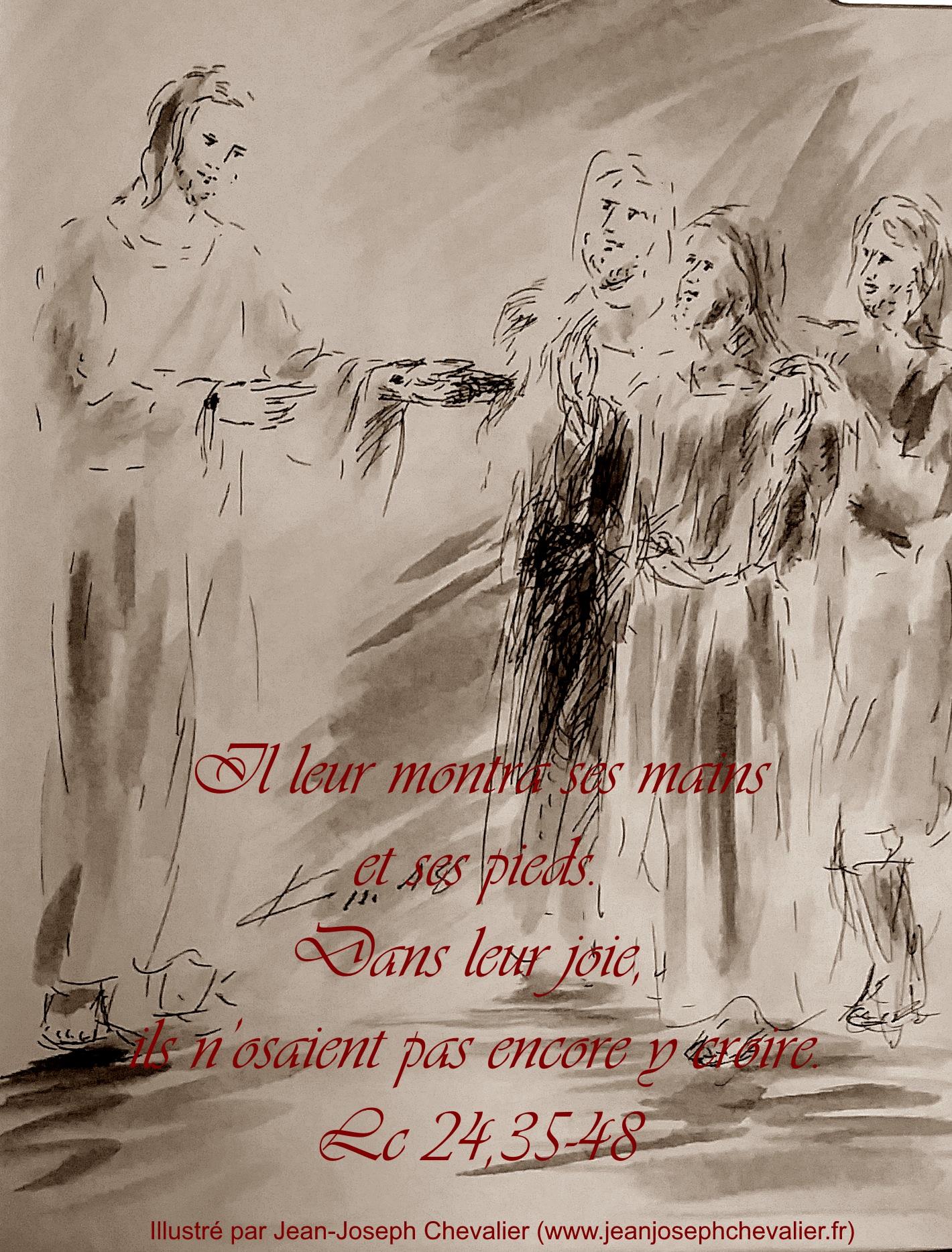 5 avril 2018 evangile du jour illustre par un dessin au lavis de jean joseph chevalier image
