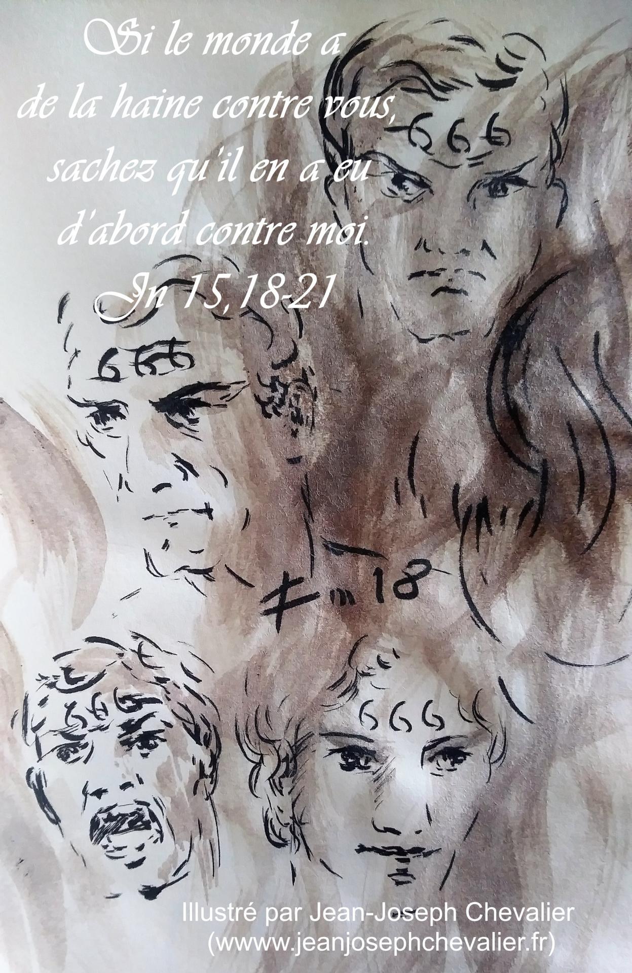 5 mai 2018 evangile du jour illustre par un dessin au lavis de jean joseph chevalier image