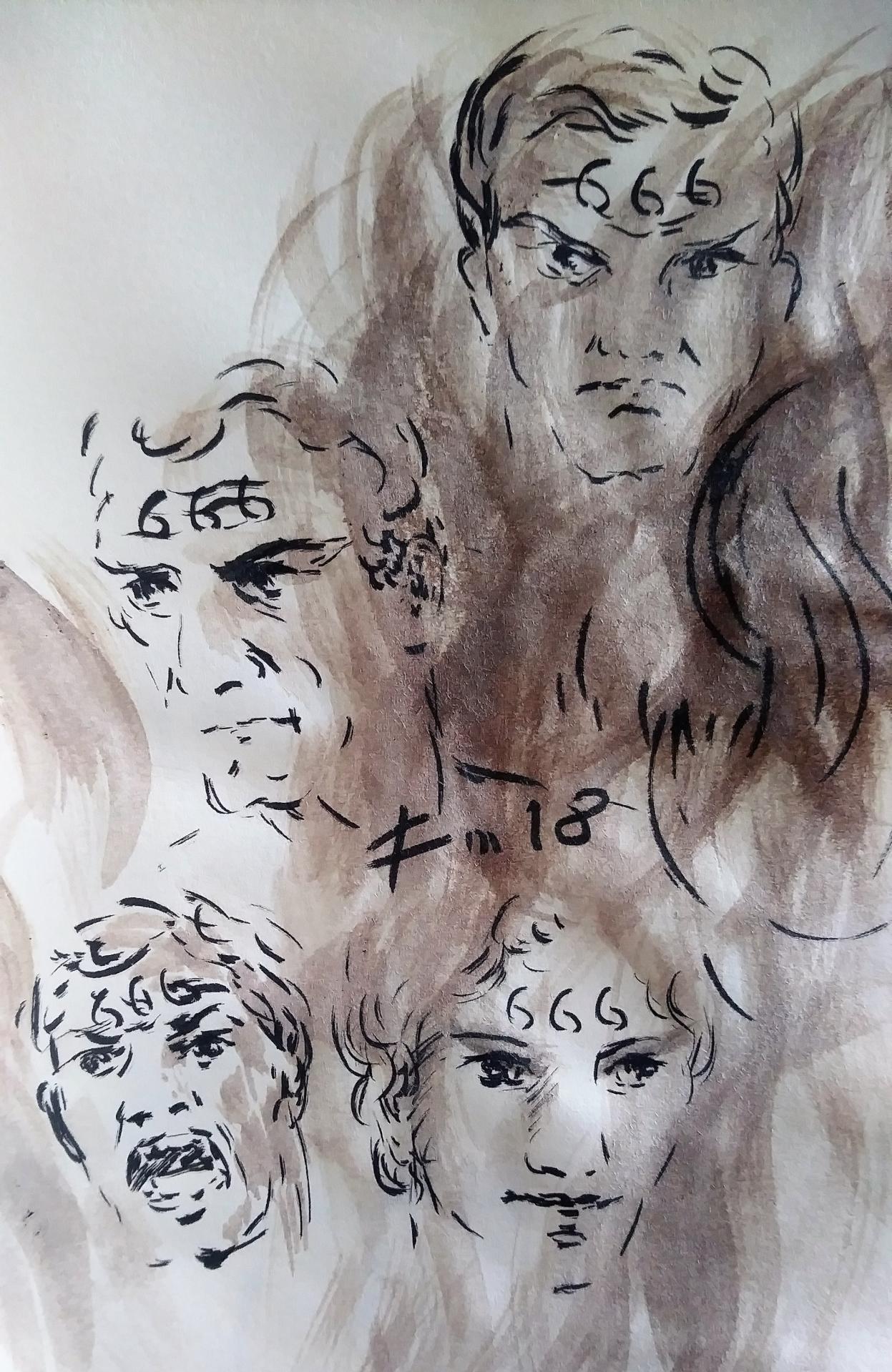 5 Mai 2018, évangile du jour illustré par un dessin au lavis