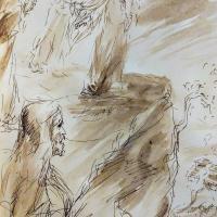 5 mars 2018 lc 4 24 30 evangile du jour illustre par un dessin au lavis de jean joseph chevalier