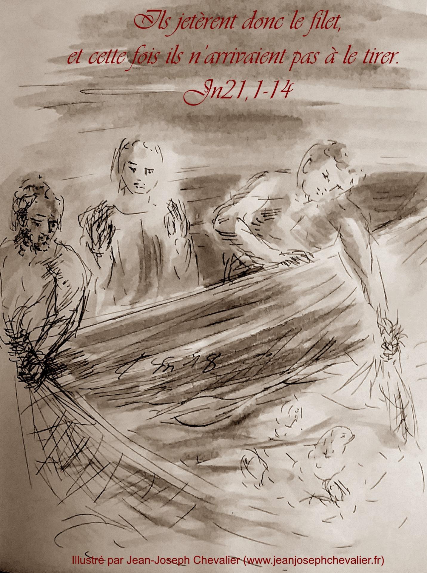 6 avril 2018 evangile du jour illustre par un dessin au lavis de jean joseph chevalier image