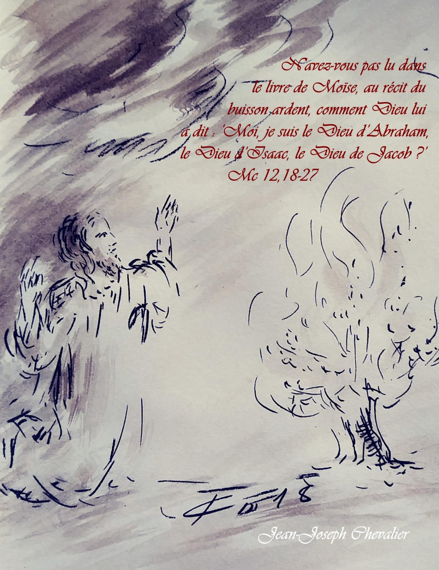 6 Juin 2018, évangile du jour illustré par un dessin au lavis