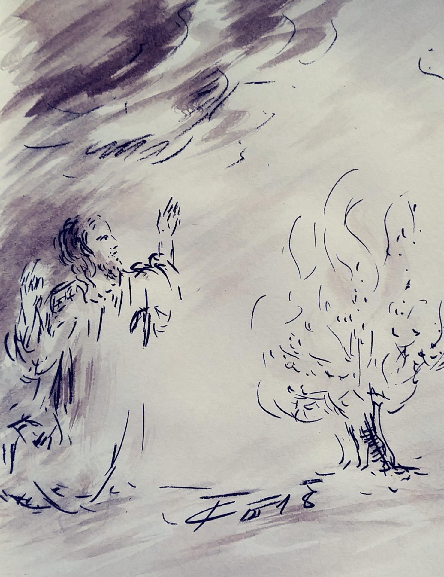 6 juin 2018 evangile du jour illustre par un dessin au lavis de jean joseph chevalier