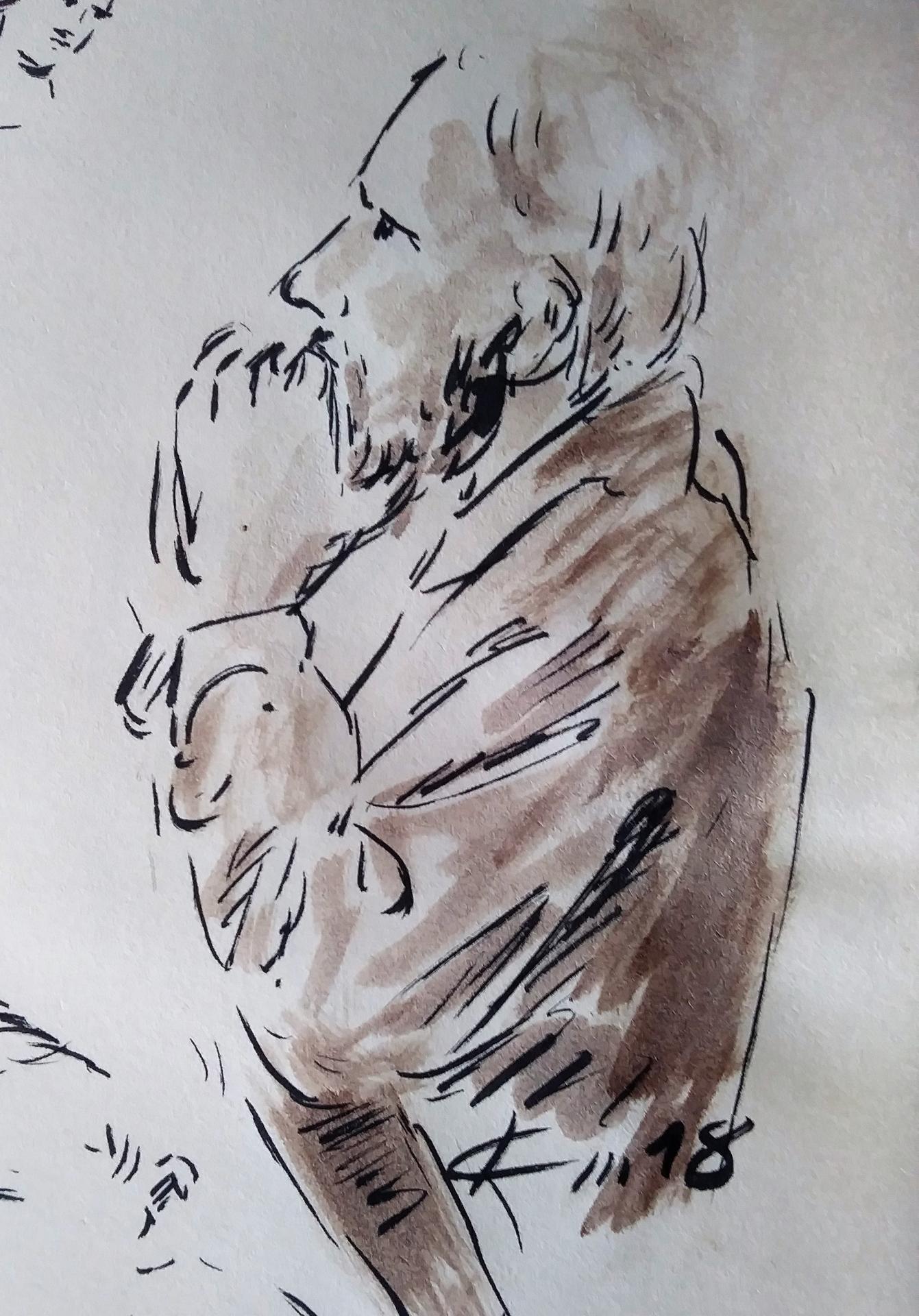 6 mai 2018 evangile du jour illustre par un dessin au lavis de jean joseph chevalier